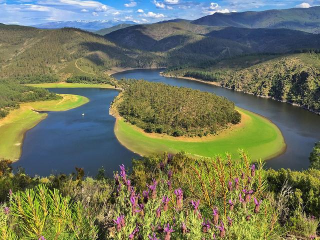 El Meandro de Melero, uno de los paisajes más bellos de España