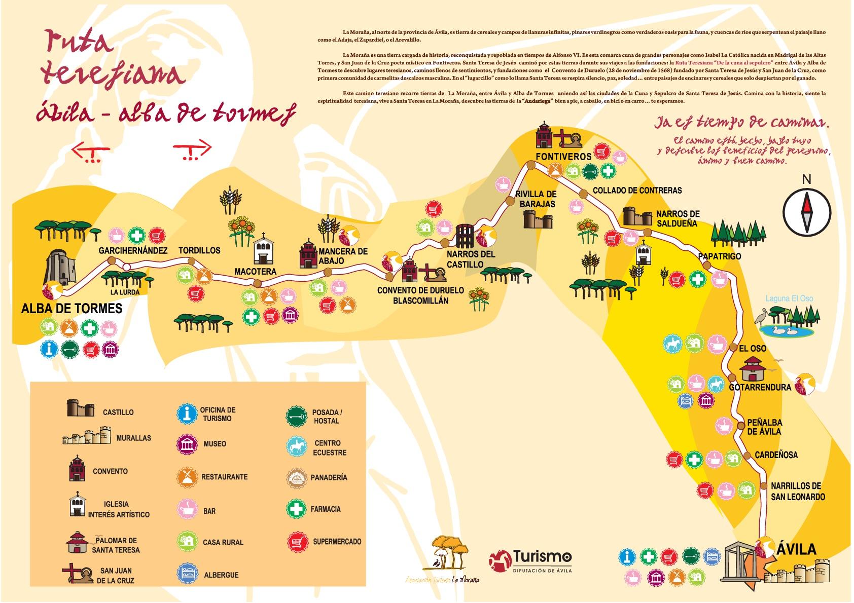 De Ávila a Alba de Tormes siguiendo la Ruta Teresiana