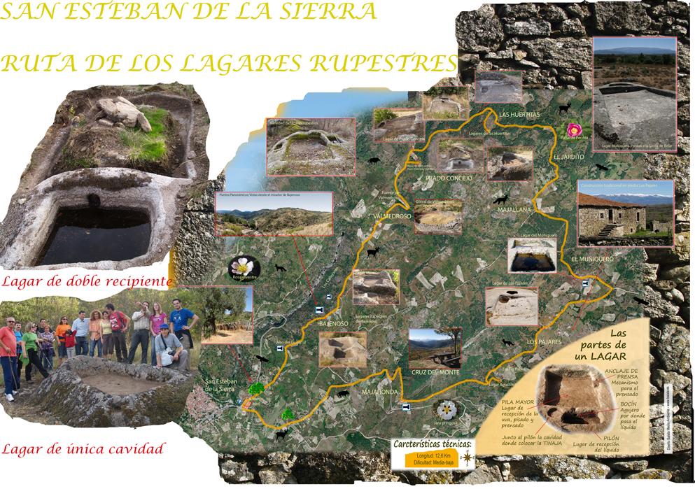Ruta de los Lagares Rupestres en San Esteban de la Sierra (Salamanca)